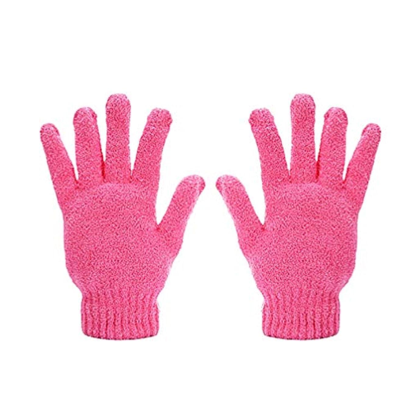 民族主義測定可能倒錯Minkissy 2本の乾燥手袋耐久性のある吸水5本指乾燥手袋女性男性用ヘアドライヤー用品(ピンク)
