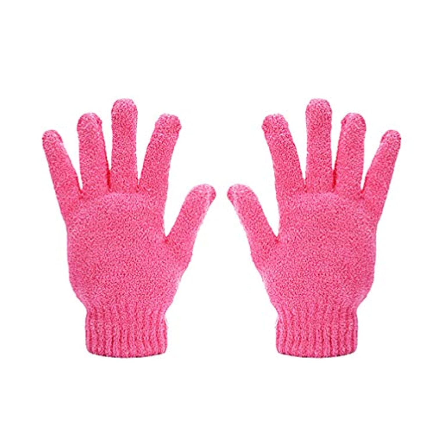 暗記するエレメンタルスリップシューズMinkissy 2本の乾燥手袋耐久性のある吸水5本指乾燥手袋女性男性用ヘアドライヤー用品(ピンク)