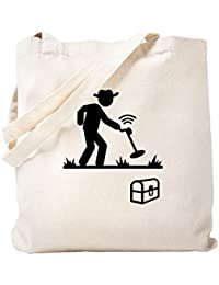 CafePress – メタルDetecting – ナチュラルキャンバストートバッグ、布ショッピングバッグ S ベージュ 0732127751DECC2
