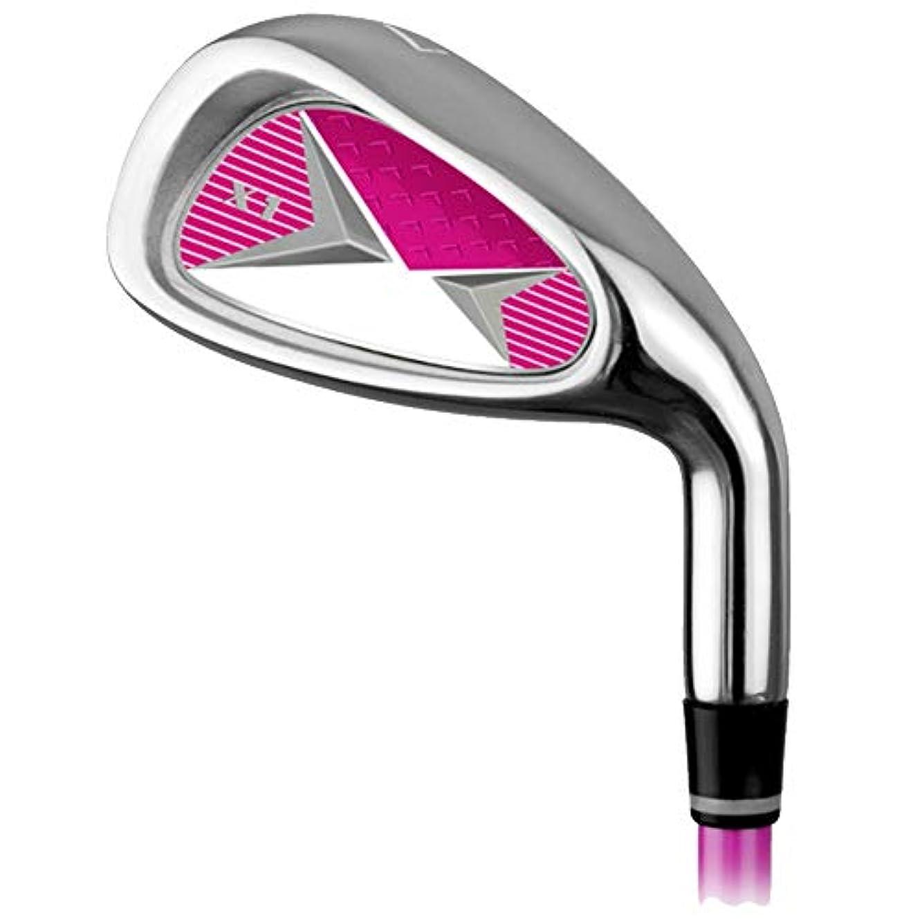 想起ブロッサム神学校ゴルフ練習クラブゴルフカーボンアイアン7アイアン男性と女性子供初心者練習ポール3?12歳オレンジレッドブルー ゴルフアイアンセットワークスパター (色 : 9-12Age-pink, サイズ : Steel body)