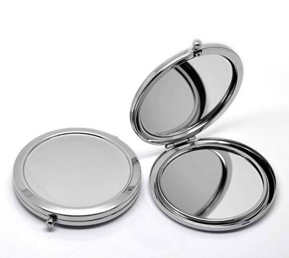 ベルト大工コードHOUSWEETY 無地コンパクトミラー プチ手鏡 ハンドミラー 携帯ミラー 丸型 化粧箱入り 折りたたみ おしゃれ レディース 小物 (デザインA)