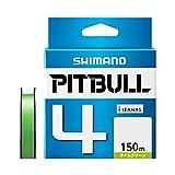 シマノ(SHIMANO) PEライン ピットブル 4本編み 150m 0.4号 ライムグリーン 8.6lb PL-M54R