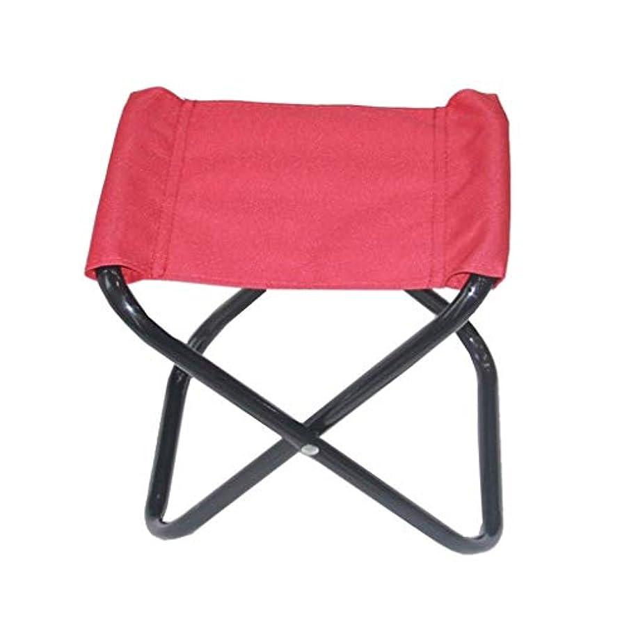 シェアローン弱いキャンプスツール、シンプルで快適な小さなスツール耐摩耗性に簡単折りたたみスツール折り釣りスツール (Color : Pink)