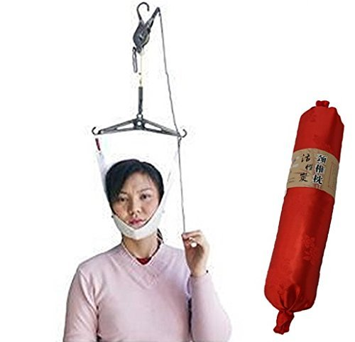 (World Zakka) 自宅で改善 頚椎牽引器 + 枕 セット 頸椎症 頸椎 ヘルニア 首こり 解消 グッズ