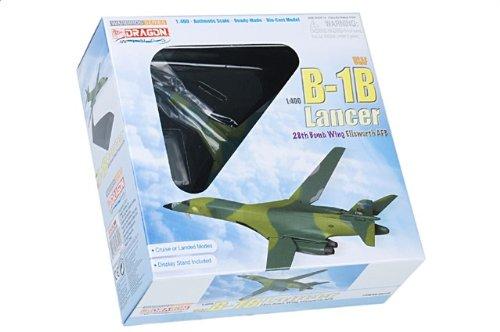 """1:400 ドラゴンモデルズ 56225 ロックウェル B-1B ランサー ダイキャスト モデル USAF 28th BW 34th BS #85-0077 """"Pride of 南 Dakota"""" E"""