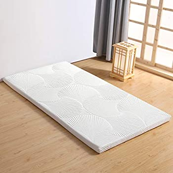 Avenco マットレス シングル 高反発マットレス 白 100x200x3cm 敷きパッド 敷布団 寝具 腰痛改善 収納袋付き ベッド