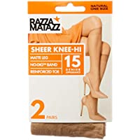 Razzamatazz Women's Pantyhose 15 Denier Value Knee Hi's (2 Pack)