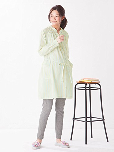 ee0f0c2bd83 ANGELIEBE Enjeribe Maternity pajamas nursing opening striped with stand-up  collar Naiti nursing clothes long-sleeved maternity open front room wear