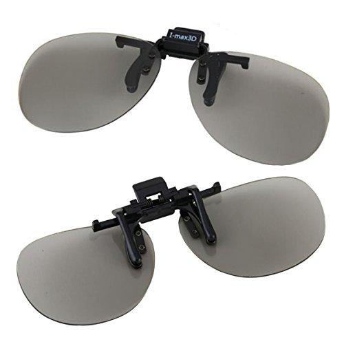 IMAX 3Dメガネ グラス クリップオン式 3D眼鏡 クリップオンキーパー...