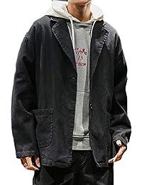 chenshiba-JP メンズカジュアルスリム立体ライトブレザージャケットコート