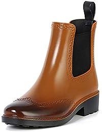 [Ludus Felix] レインブーツ レディース ショート ヒール サイドゴア 完全防水 レインシューズ レディースレインブーツ 長靴
