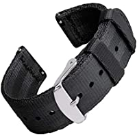 Archer Watch Straps Seat Belt Nylon Quick Release Watch Bands | Multiple Colors, 18mm, 20mm, 22mm
