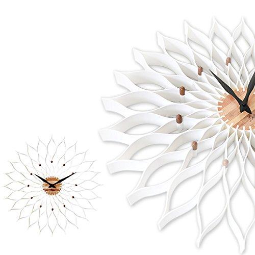 掛け時計 Leffard ルファール CL-9903 ダリアの花のよう アート作品 (ホワイト)