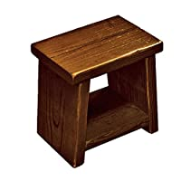 OLD ASHIBA 踏み台 (飾り棚付き) 高さ300mm(30cm) 屋内用濃茶(こいちゃ)