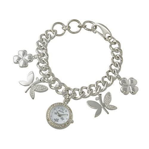 (フォリフォリ) Folli Follie 時計 ブレスレットタイプ バタフライ 腕時計 シルバー シルバー ステンレススチール クリスタルガラス ステンレススチール wf8a049zpwxx レディース ブランド 並行輸入品