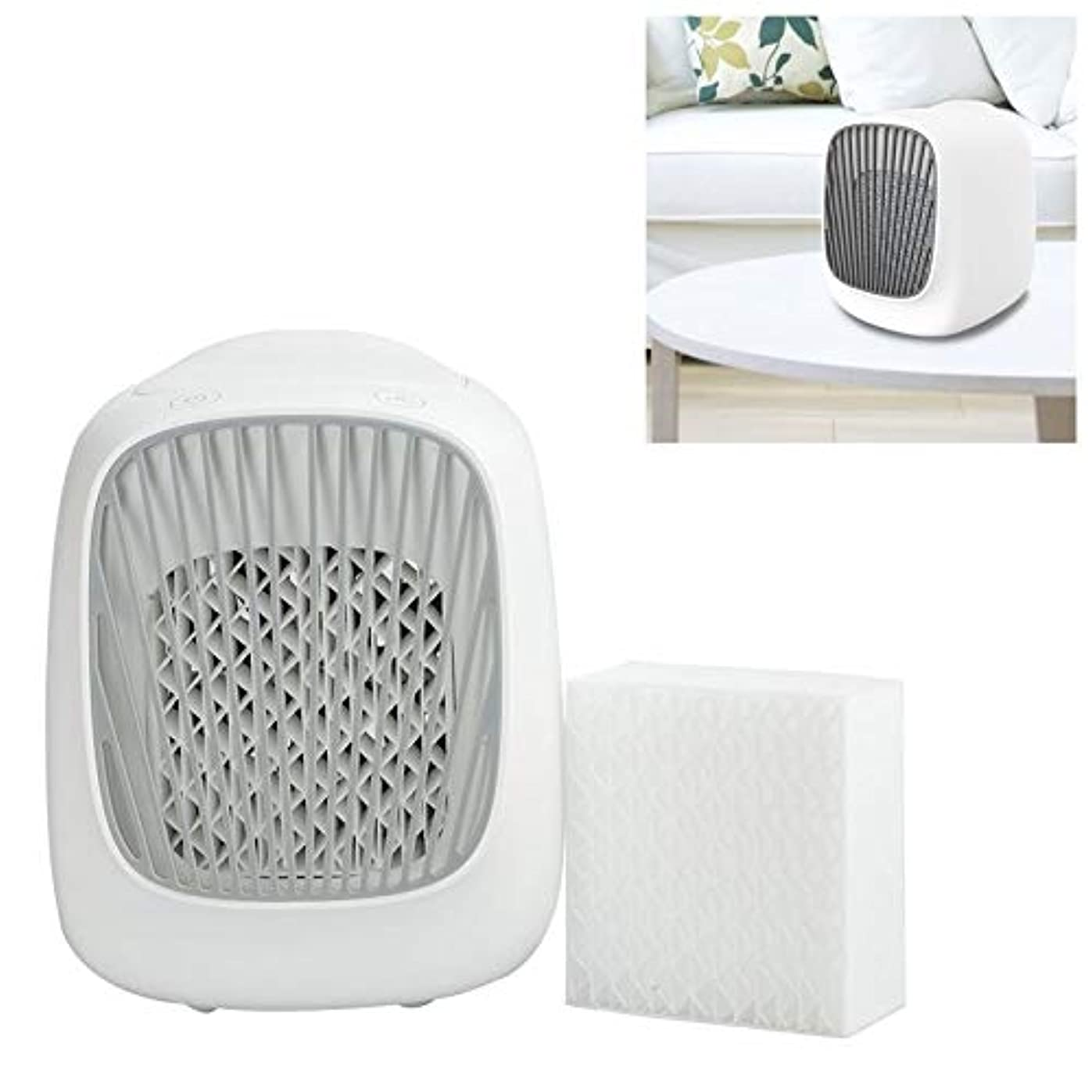 ハードアドバイス自我WZY 林ミニデスクトップUSB家庭用加湿エレクトリック交換可能なフィルタエレメントのセット(ホワイト)でファン自己完結型のフィルターエレメントエアコンモイスチャライジング冷却ファン (Color : White)