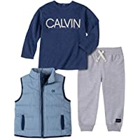 CALVIN KLEIN Baby Boys 3 Pieces Vest Pants Set