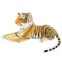 Jesonn? Simulation Stuffed Plush Animal Toy TigerBrown23.6/60CM1PC [並行輸入品]