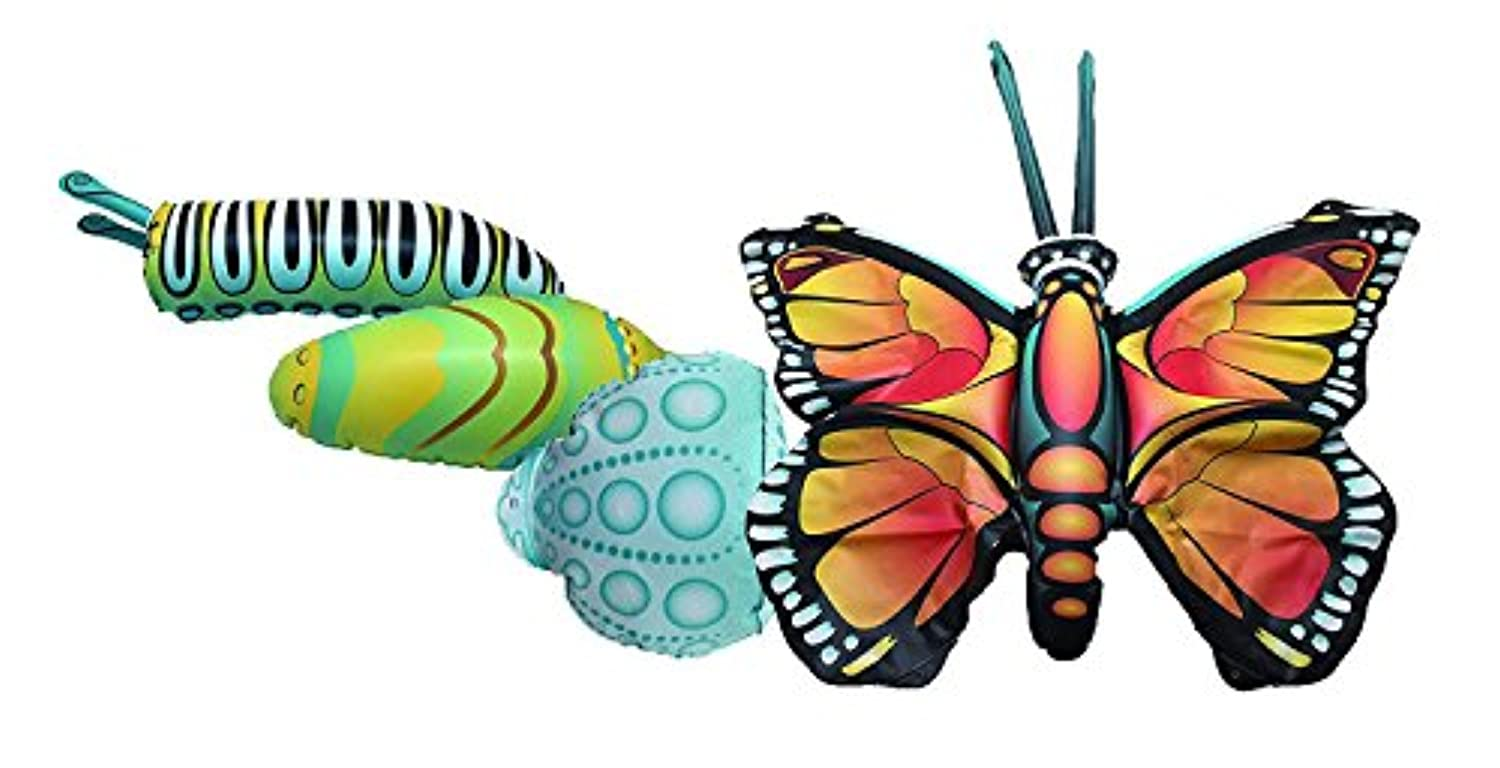 Giant Inflatable Butterfly Life Cycle Stages 4 Piece Set w/ 21 Inch Butterfly [並行輸入品]