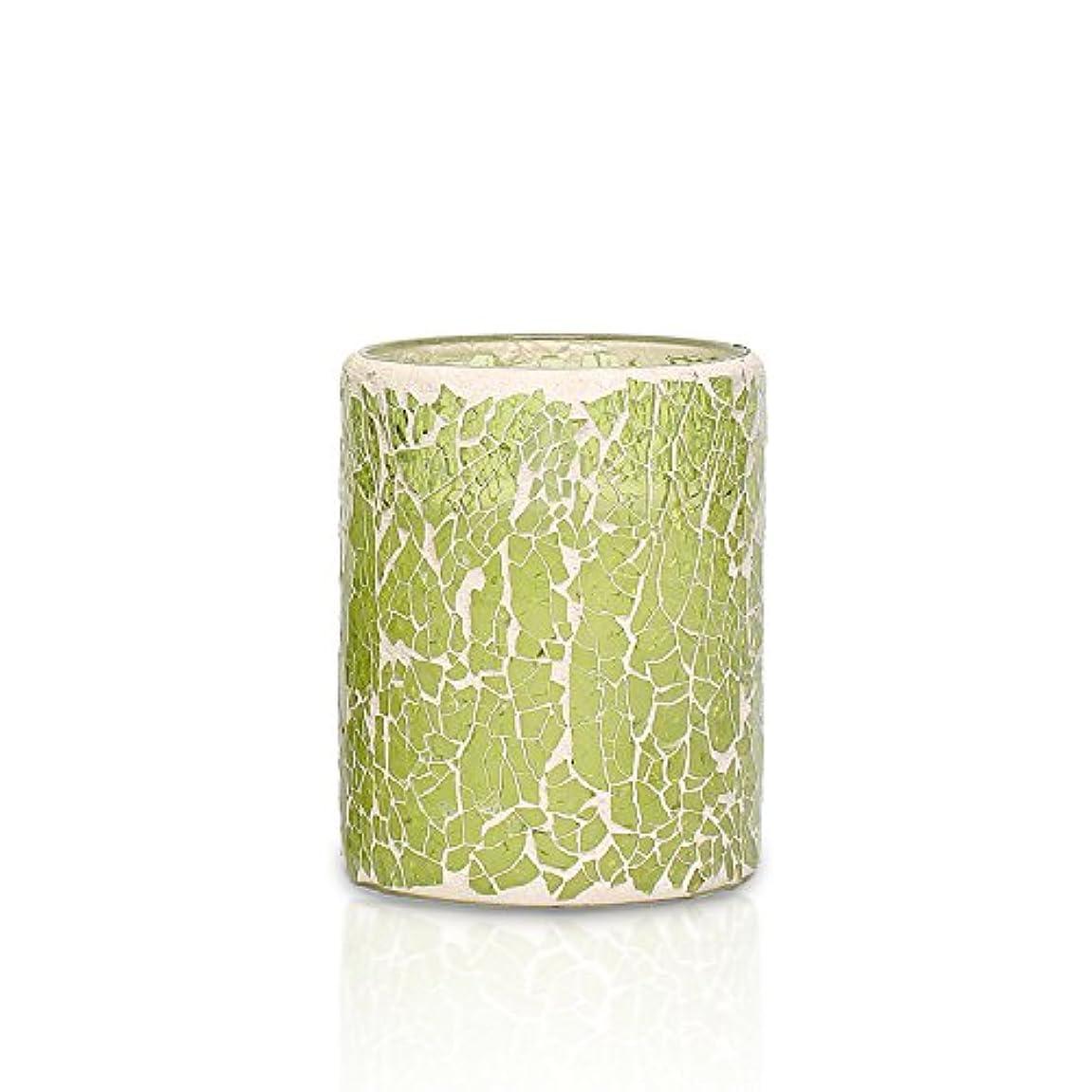 に補助献身simplux Battery-Powered Mosaic Flameless LED Candle with Timer, 3 x 4', Light Green [並行輸入品]