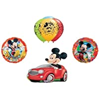 loonballoonミッキーマウス運転レッドカークラブ家クラブ9誕生日Mylar Balloon Set