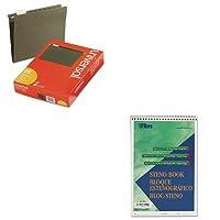 kittop8021unv14115–Valueキット–Tops Gregg Steno Books ( top8021)とユニバーサルHangingファイルフォルダ( unv14115)