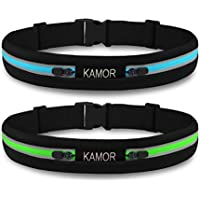 (アップグレード2パック) Kamor # 11 RUNNINGランナーのレースベルト/ベルト/フィットネストレーニングベルト/スポーツウエストパック/ウエストポーチ/練習ウエストバッグfor Apple iPhone 6、6 Plus、5、5s、5 C、SAMSUNG中Race、ハイキング、ウォーキング、サイクリング