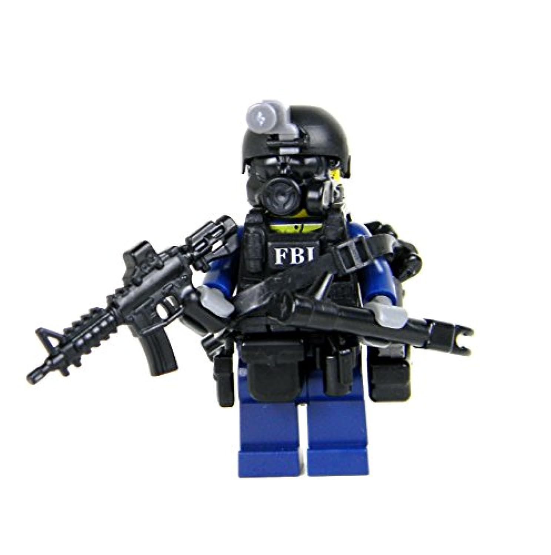 LEGO レゴ カスタム パーツ アーミー 装備品 武器 カスタムフィグ FBI SWAT(スワット) CIRG (危機的事件対応グループ) 隊員 ミニフィギュア [並行輸入品]