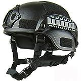 Osize 自転車乗りの安全のための黒人の大人の軽量サイクルヘルメットCSと戦術のヘルメット(1サイズ)