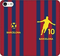 iPhone/Xperia/Galaxy/他機種選択可:サッカーシルエット手帳(ホーム/バルセロナ_10番_B) 09 iPhone X