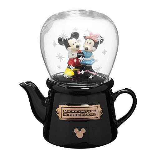 ディズニー  ミッキー&ミニー 1人用ティーセット ティーポット&グラス(スノードーム風)  SAN2069