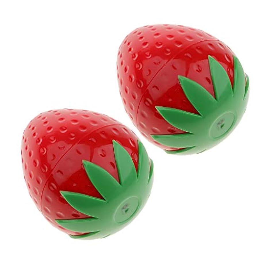 ルー泥沼逃すIPOTCH 2個 コスメ 小分け用容器 可愛い フルーツタイプ 果物 化粧品容器 クリームジャー 5タイプ選べ - ストラベリー