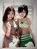 板野友美 渡辺麻友 L版 水着 生写真