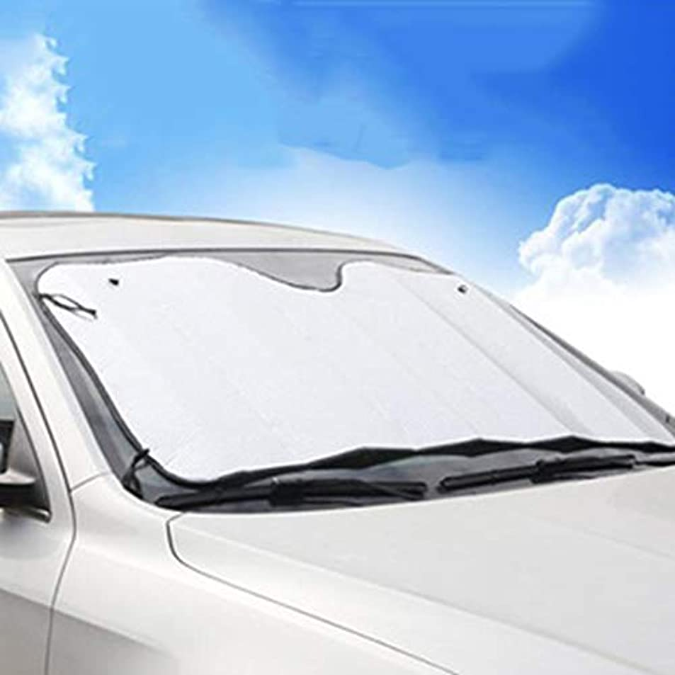 ゴミ複合見つけた車のフロントガラスカバー サンシェード 夏 日焼け止め絶縁 フロントガラスバイザー 両面 フロントファイル 日焼け止め サンUVダストウォーター耐性