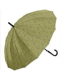 無地 傘 レディース 濡れると柄が浮き出る 16本骨?桜舞姫 ジャンプ傘 60cm
