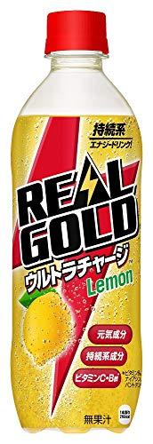 リアルゴールド ウルトラチャージ レモン 490ml×24本 PET