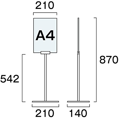 フロアサインスタンド A4縦ロウ DOYA3-A4TL