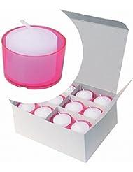 カメヤマキャンドル(kameyama candle) カラークリアカップボーティブ6時間タイプ 24個入り 「 ピンク 」