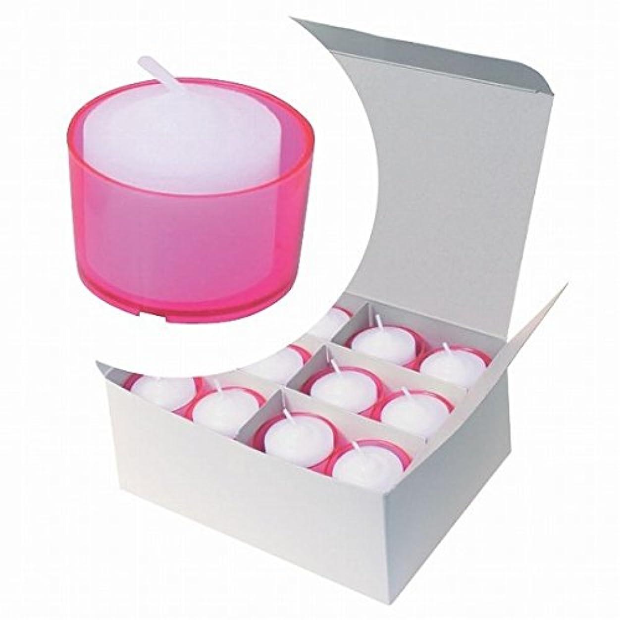 白雪姫贈り物レザーカメヤマキャンドル(kameyama candle) カラークリアカップボーティブ6時間タイプ 24個入り 「 ピンク 」