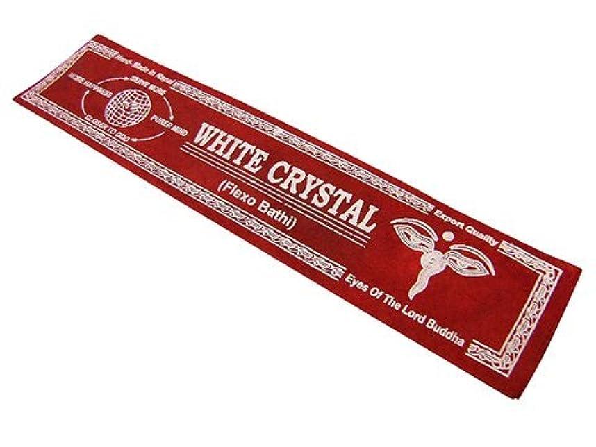 ご飯有効天使NEPAL INCENSE ネパールのロクタ紙のお香【WHITECRYSTALホワイトクリスタル】 スティック