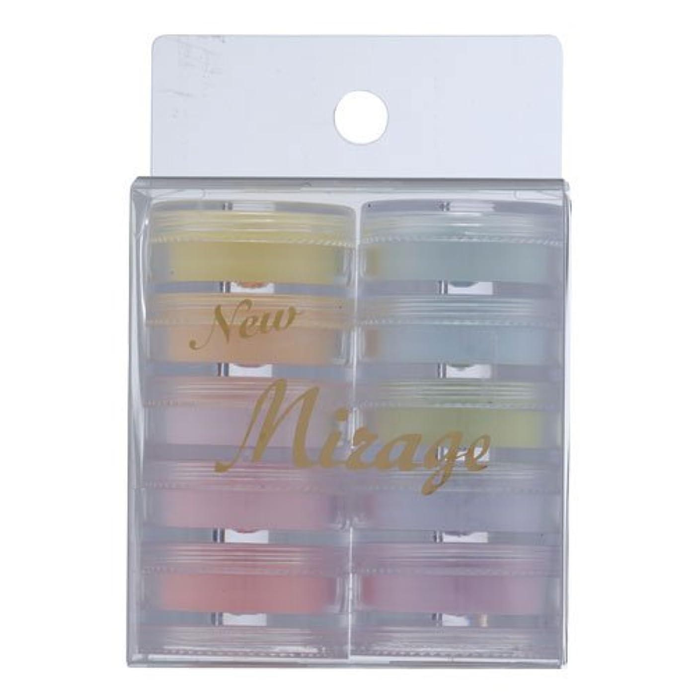 スキム入浴キャンパスミラージュ カラーパウダー N/WBP  3.5g×10色セット  アクリルパウダー はっきり鮮やかなパステルカラーのセット