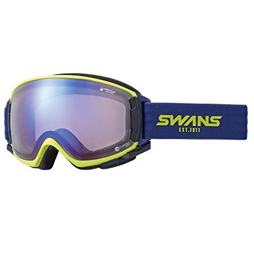 SWANS(スワンズ) ゴーグル スキー スノーボード ウルトラレンズ プレミアムアンチフォグ搭載 呼吸するゴーグル ロヴォ ROVO-U/MDH-SC-PAF LIM ライム/アイスミラー×ウルトラライトパープルレンズ