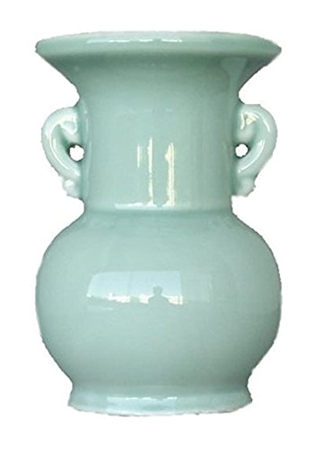 傘つまずくやる仏具用 花瓶 青 大 4寸