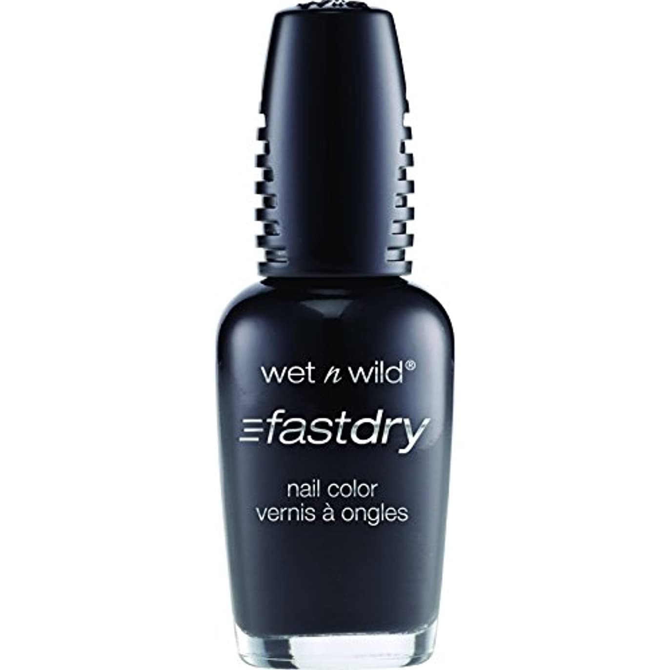 聡明置換カイウスWet n Wild Fast Dry Nail Color 229C Ebony Hates Chris