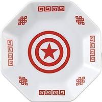 MARVEL(マーベル) 「 キャプテンアメリカ 」 中華風 八角皿 幅8.4cm ホワイト SAN2996-2
