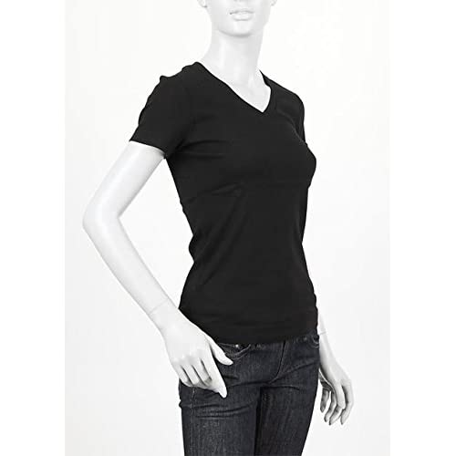 (スリードッツ) three dots VネックTシャツ Mサイズ BLACK ブラック [並行輸入品]
