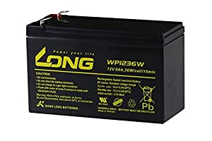 LONG 12V9Ah 高性能シールドバッテリー(WP1236W)(完全密封型鉛蓄電池)