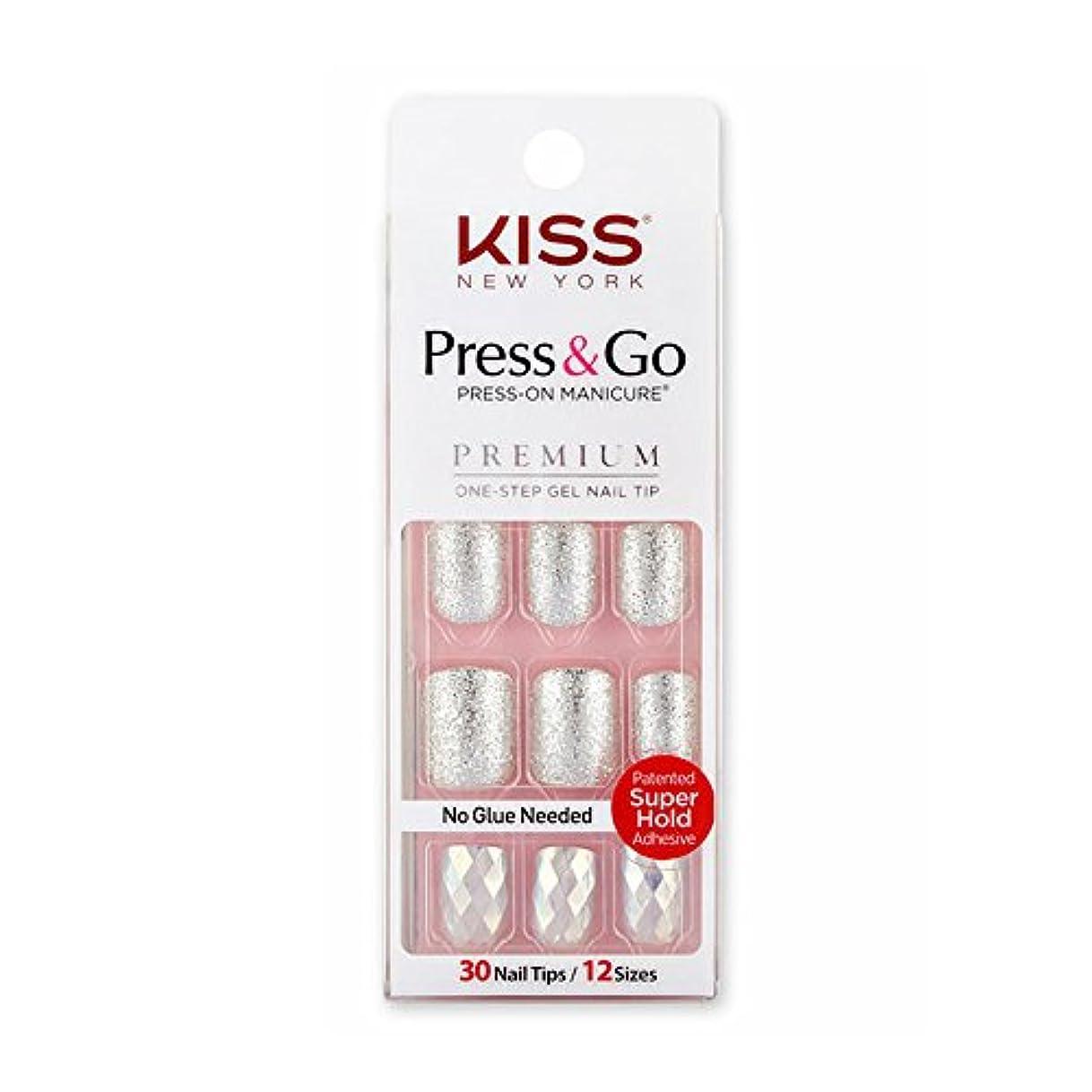 息を切らしてリフレッシュ含める[KISSNEWYORK]キスニューヨークプレスアンドゴーホワイトショットフレンチ(楕円形オーバルタイプ)/1秒成形ネイルPNG0102K付けるネイルPRESS&GO PRESS-ON MANICURE One-Step...