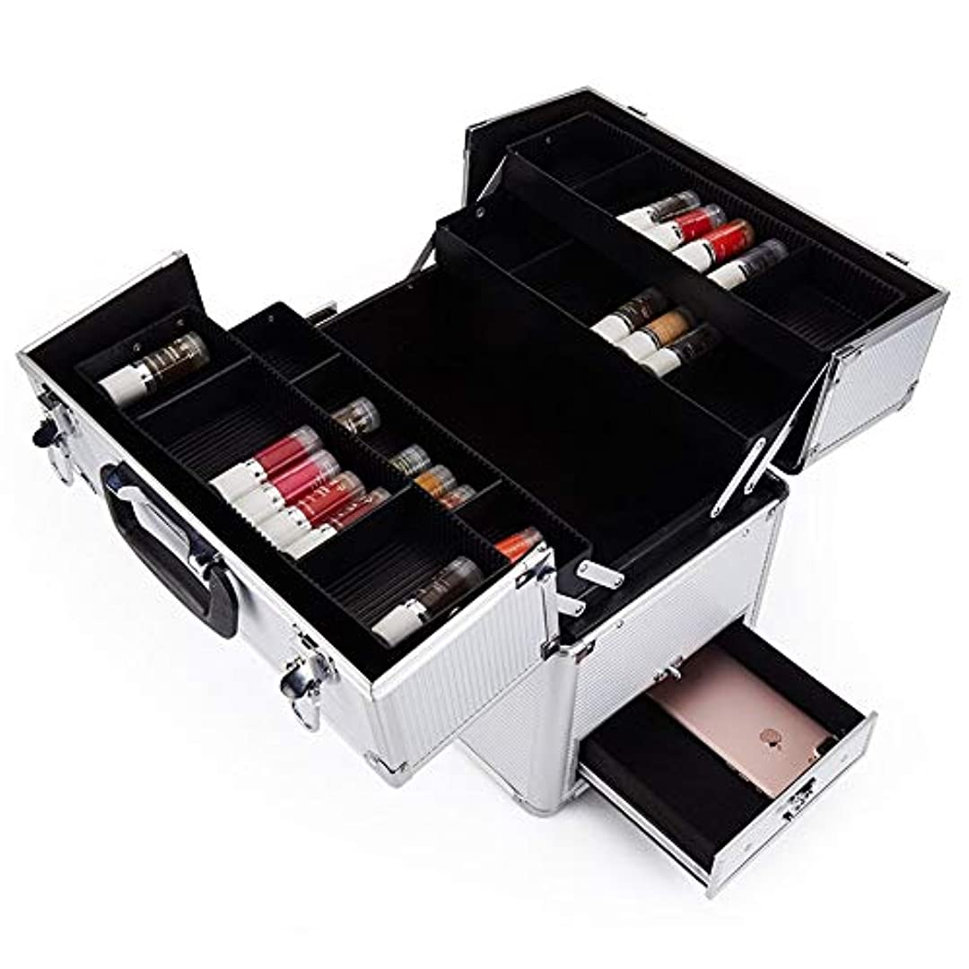 アーティスト旅アトラス特大スペース収納ビューティーボックス 美の構造のためそしてジッパーおよび折る皿が付いている女の子の女性旅行そして毎日の貯蔵のための高容量の携帯用化粧品袋 化粧品化粧台