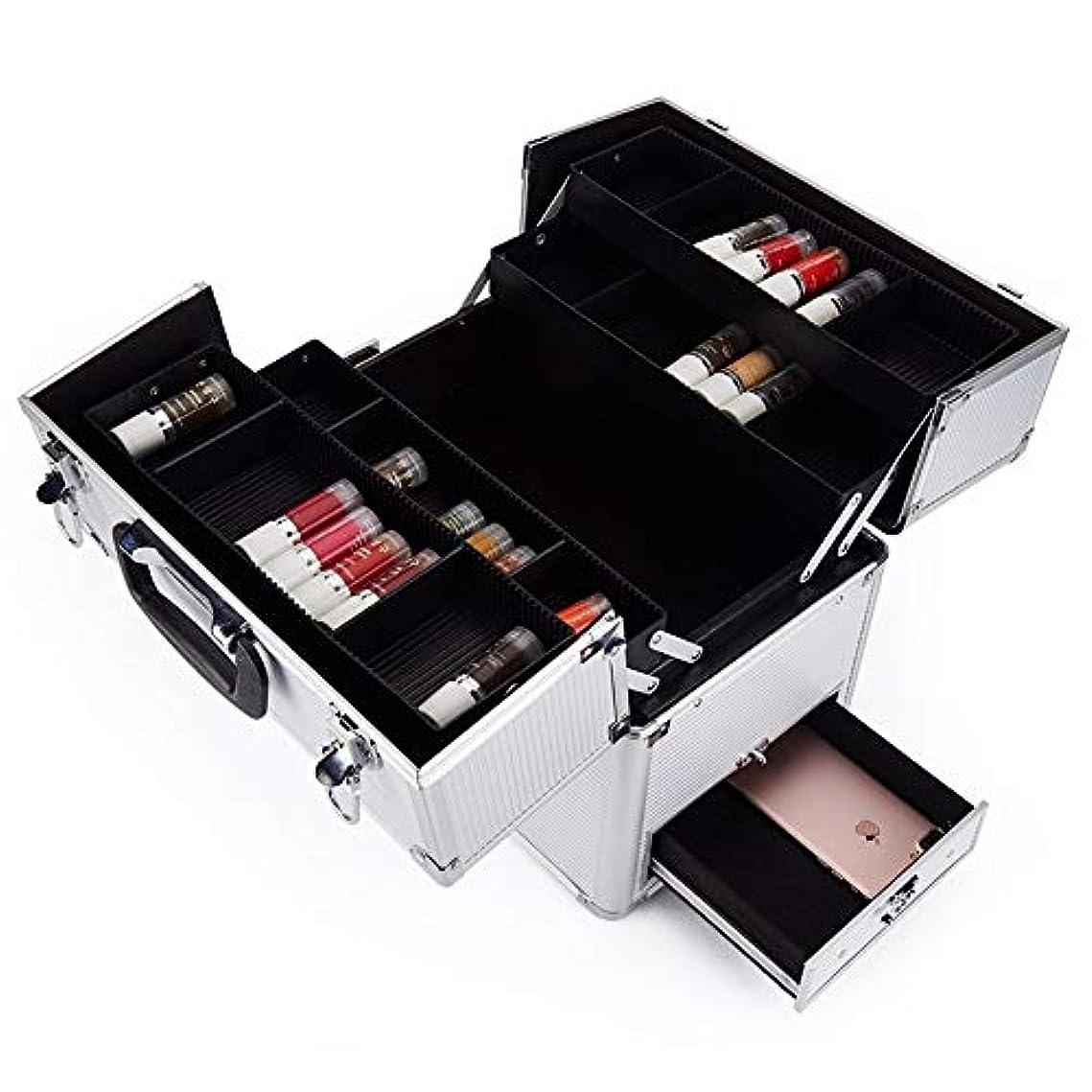 カウントあいさつ革新化粧オーガナイザーバッグ 多機能旅行メイクアップバッグパターンメイクアップアーティストケーストレインボックス化粧品オーガナイザー収納ボックス 化粧品ケース